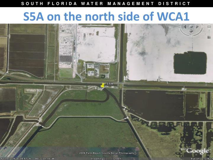 S5A on the north side of WCA1