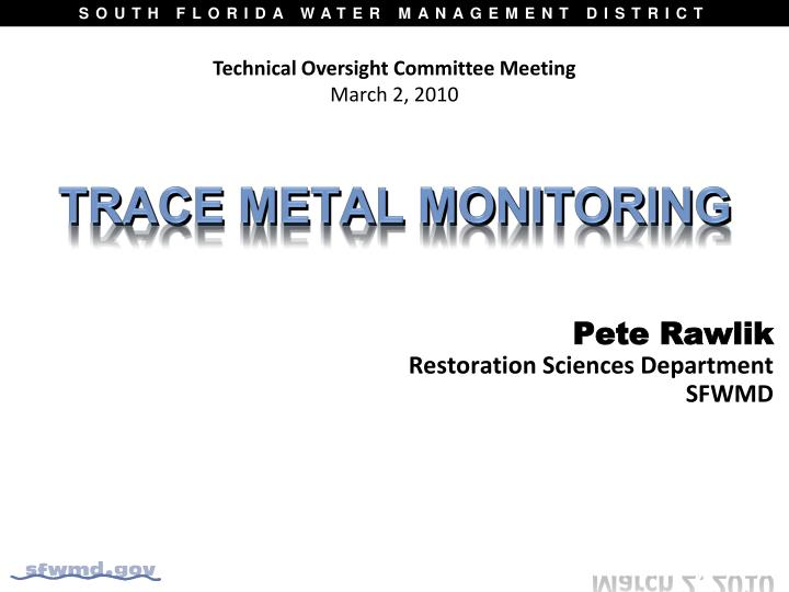 Technical Oversight Committee Meeting