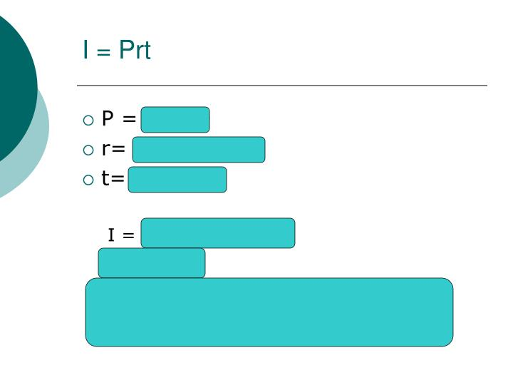 I = Prt