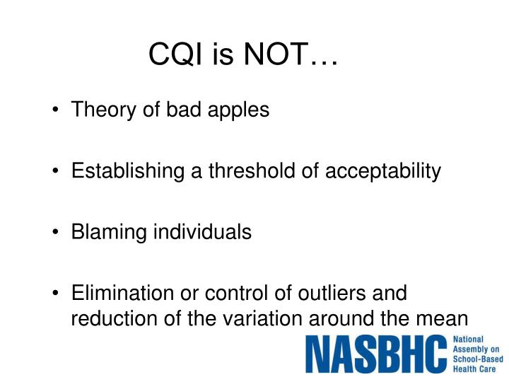 CQI is NOT…