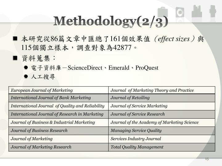 Methodology(2/3)