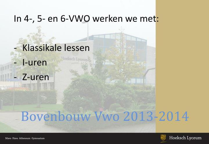 Bovenbouw Vwo 2013-2014