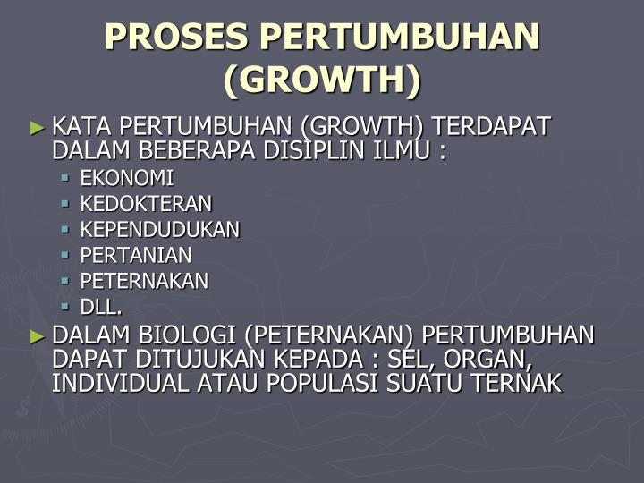 Proses pertumbuhan growth
