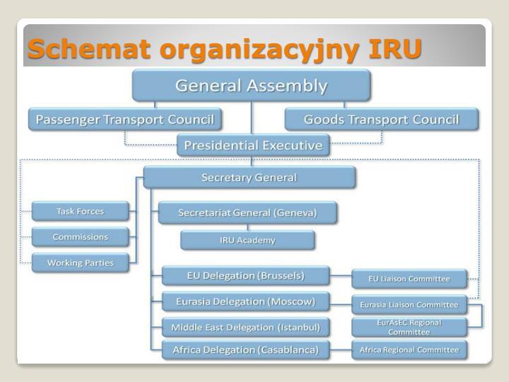 Schemat organizacyjny IRU