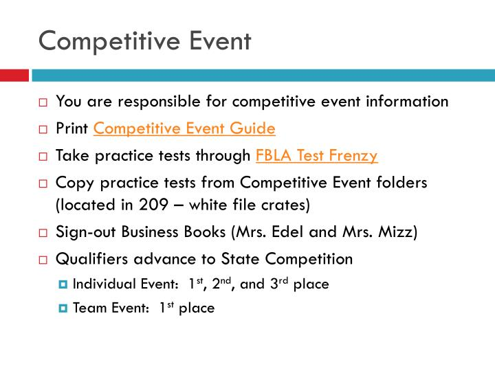 Competitive Event