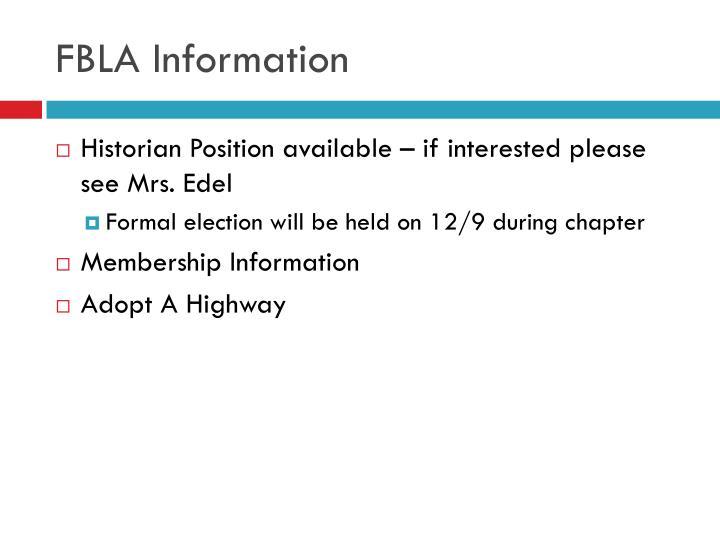FBLA Information