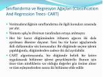 s n fland rma ve regresyon a a lar classification and regression trees cart