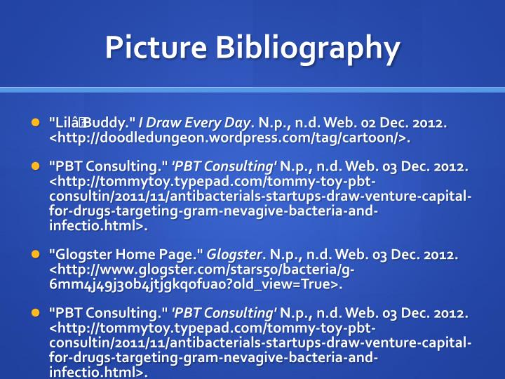 Picture Bibliography