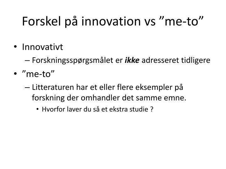 Forskel på innovation