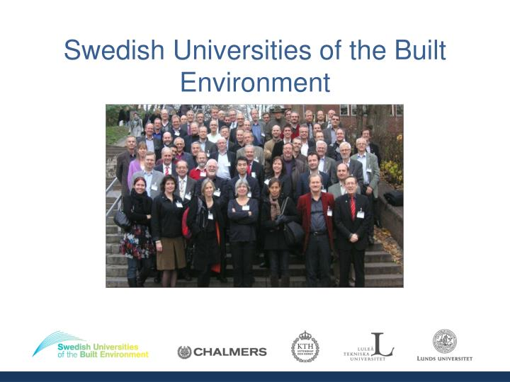 Swedish universities of the built environment