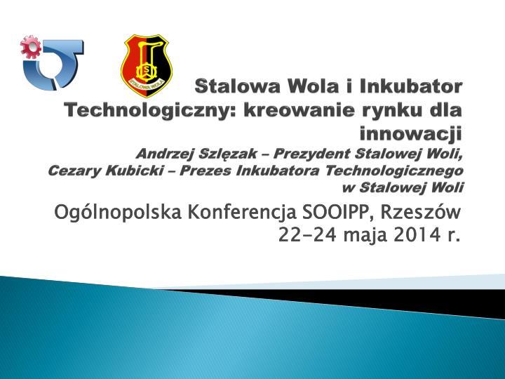 Stalowa Wola i Inkubator Technologiczny: kreowanie rynku dla innowacji