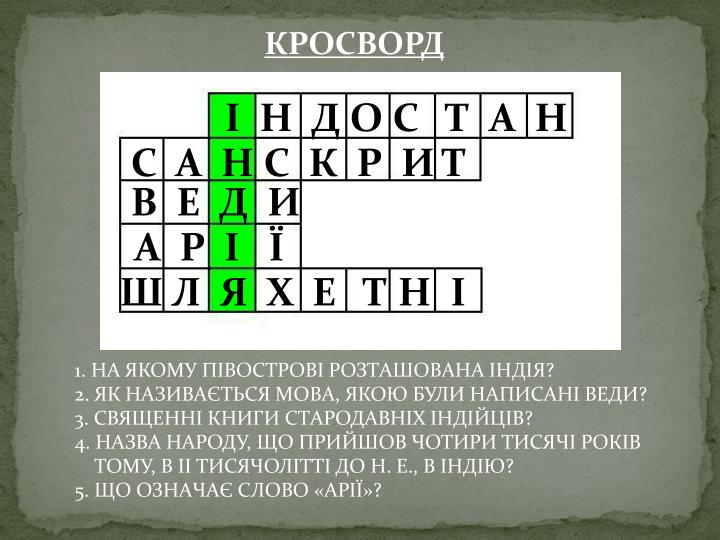 КРОСВОРД