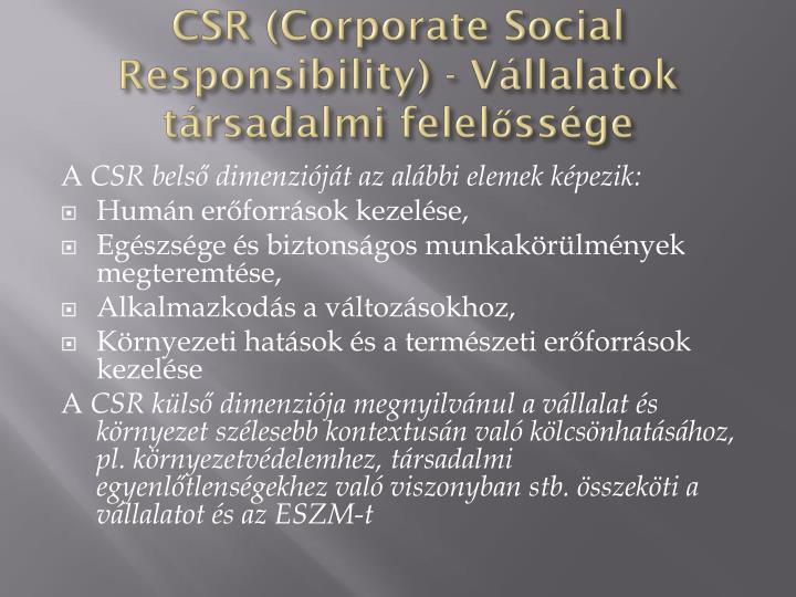 CSR (