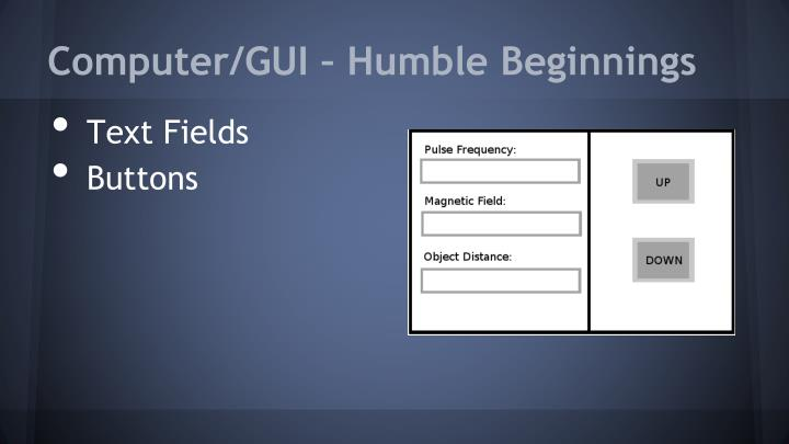 Computer/GUI – Humble Beginnings