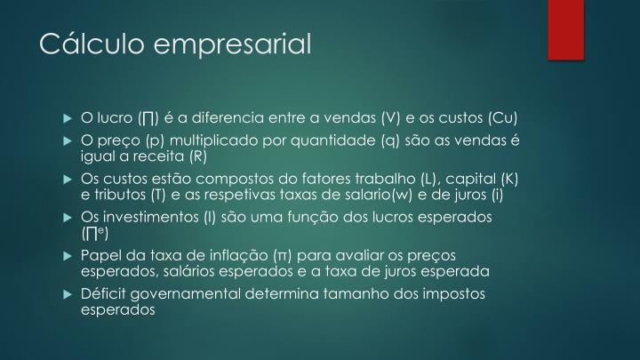 Cálculo empresarial