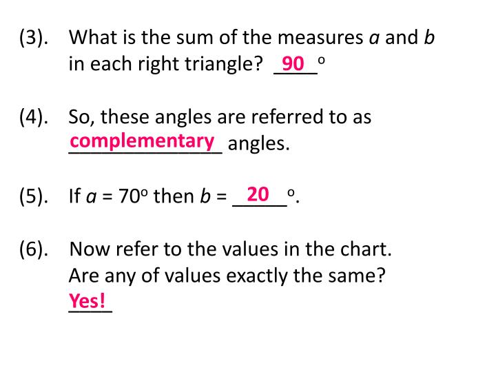 (3).  What is the sum of the measures