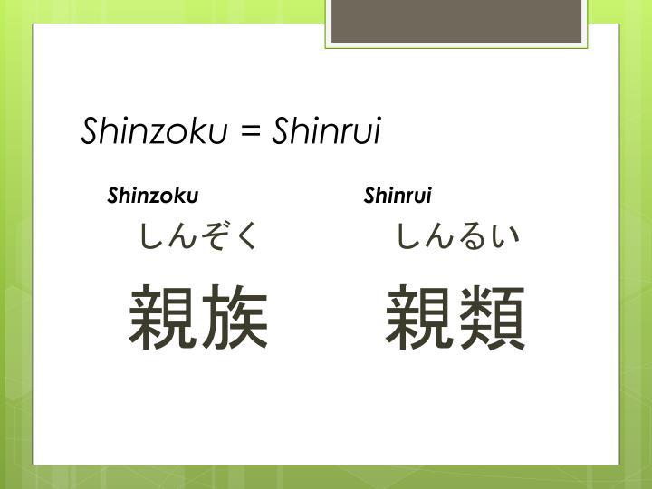 Shinzoku = Shinrui