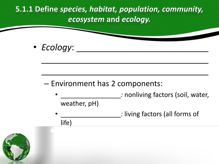 PPT - Ecology PowerPoint Presentation - ID:3448603