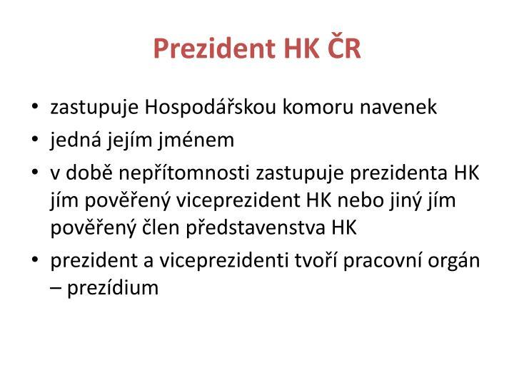 Prezident HK ČR