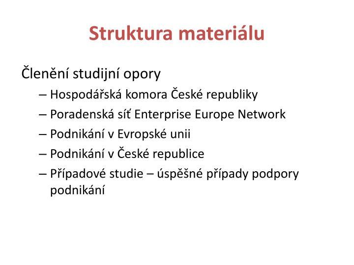 Struktura materiálu