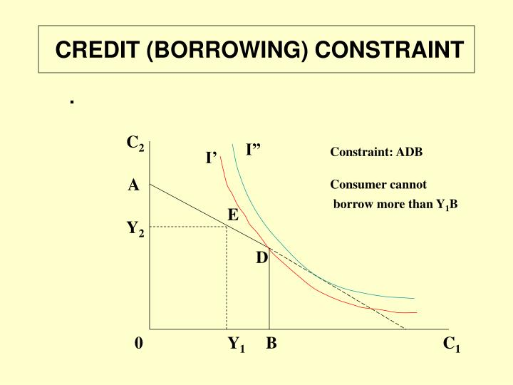 CREDIT (BORROWING) CONSTRAINT