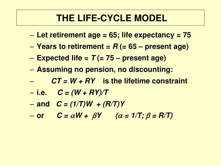 THE LIFE-CYCLE MODEL