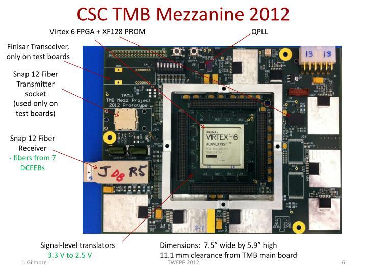 CSC TMB Mezzanine 2012