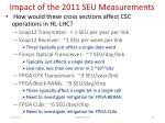 impact of the 2011 seu measurements