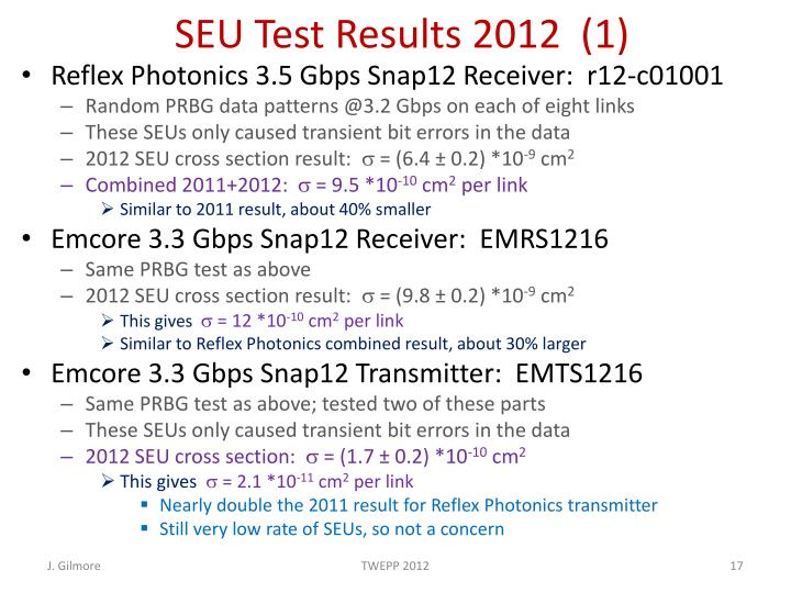 SEU Test Results 2012  (1)