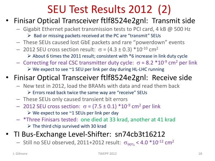 SEU Test Results 2012  (2)