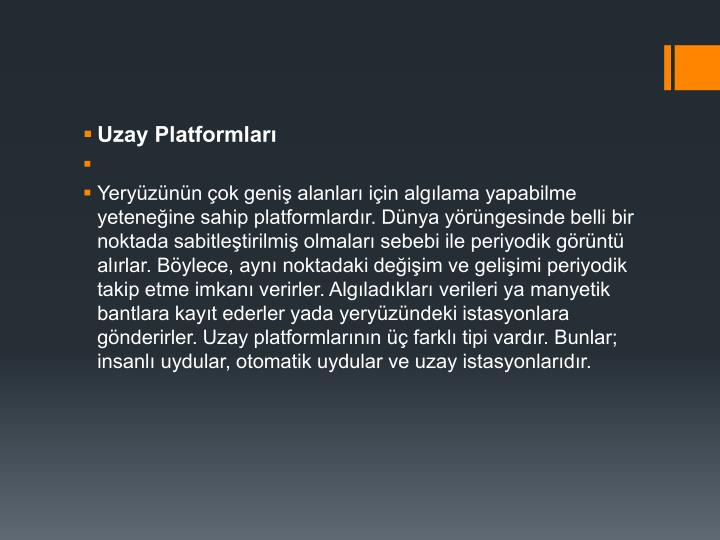 Uzay Platformları