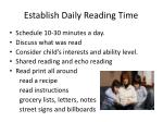 establish daily reading time
