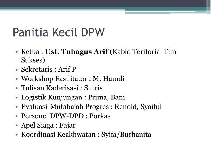 Panitia Kecil DPW