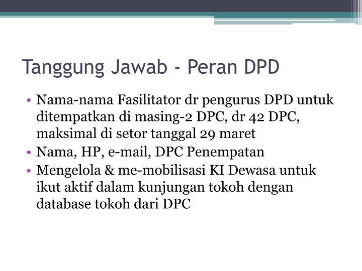 Tanggung Jawab - Peran DPD