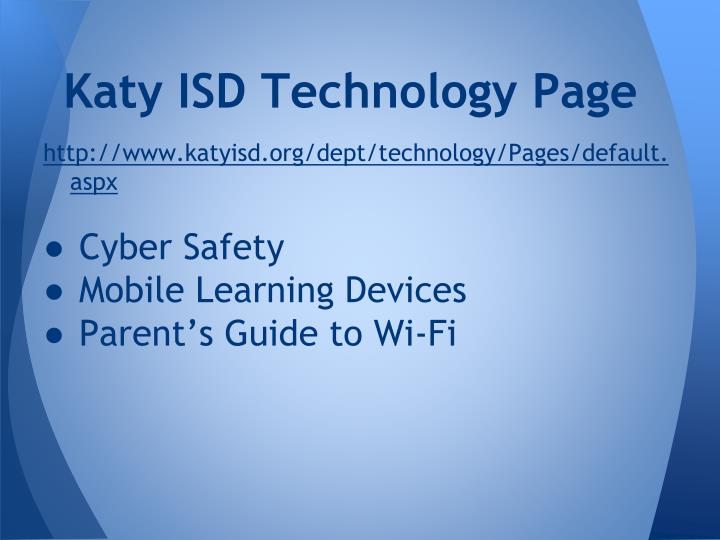 Katy ISD Technology Page