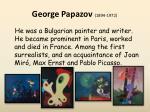 george papazov 1894 1972