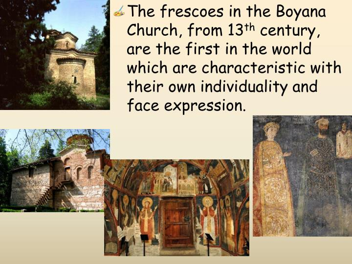 The frescoes in the