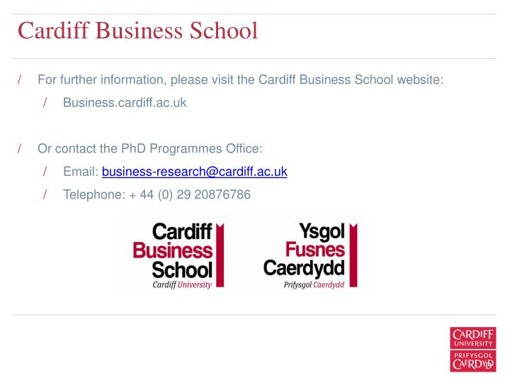 Cardiff university marketing strategy