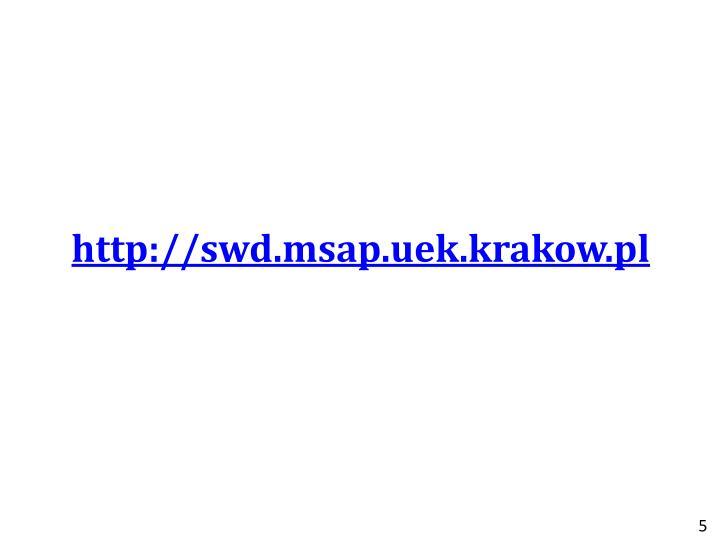 http://swd.msap.uek.krakow.pl