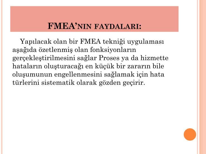FMEA'nın