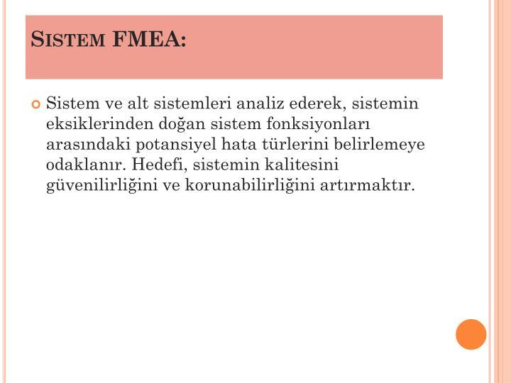 Sistem FMEA: