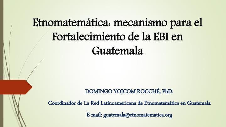Etnomatemática