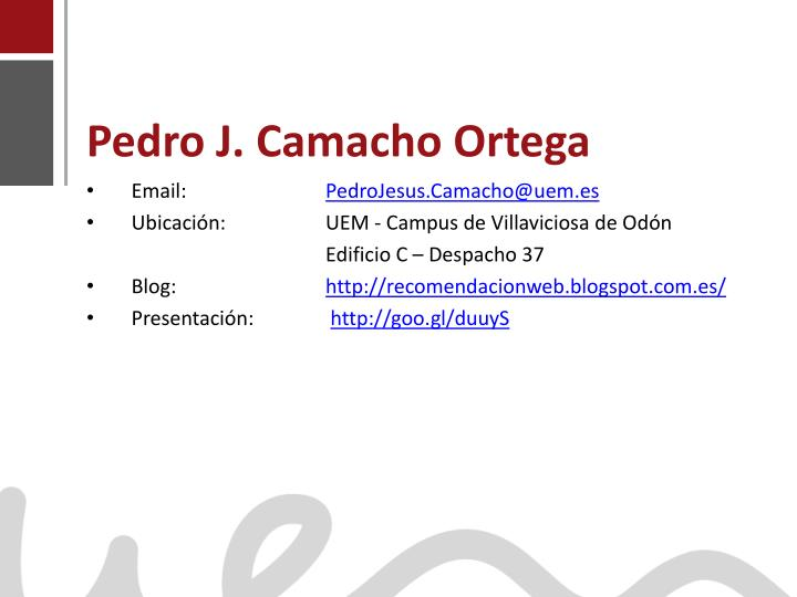 Pedro J. Camacho Ortega