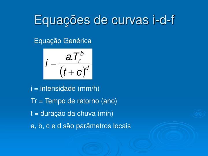Equações de curvas i-d-f
