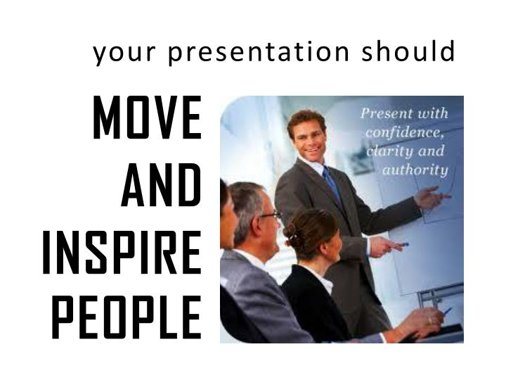 Your presentation should