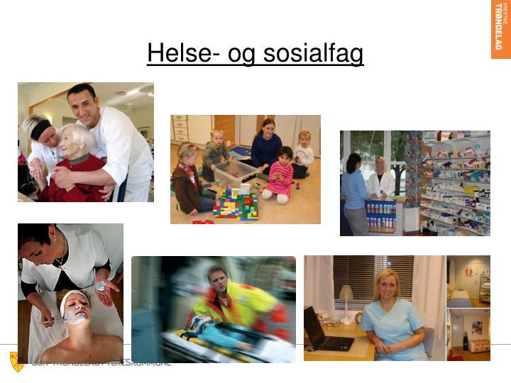 Helse- og sosialfag