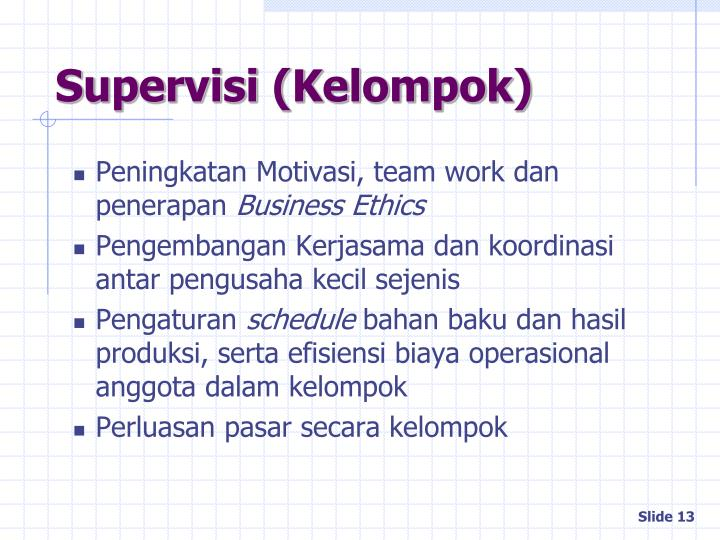 Supervisi (Kelompok)