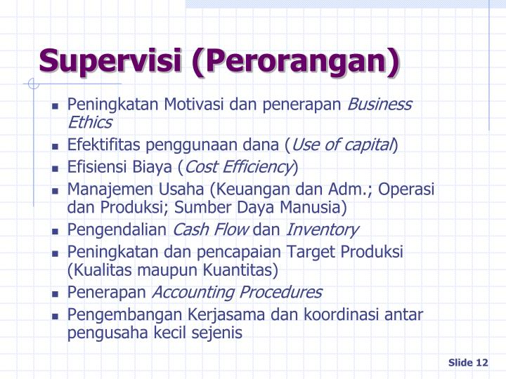 Supervisi (Perorangan)