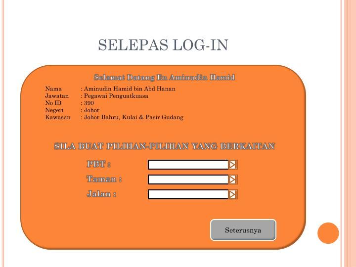 SELEPAS LOG-IN