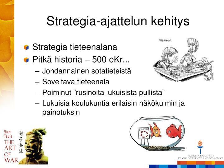 Strategia-ajattelun kehitys